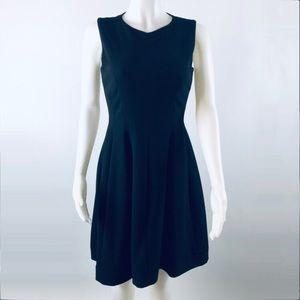 Talbolts black sleeveless fit& flare evening dress